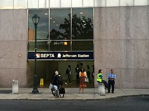 Jefferson Station (SEPTA) - 11th Street entrance to Jefferson Station.