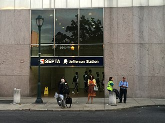 11th Street station (SEPTA) - Image: Jefferson Station entrance