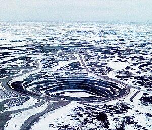 Jericho Diamond Mine - Jericho Diamond Mine from the air