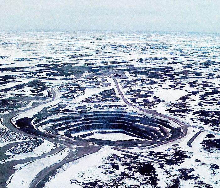 File:Jericho Diamond Mine pit Nunavut Canada.jpg