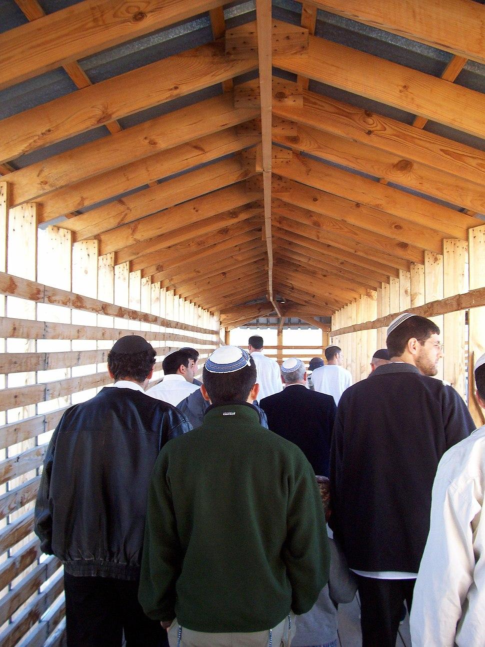 Jews entering temple mount