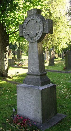 Johan Fredrik Åbom - Johan Fredrik Åbom grave