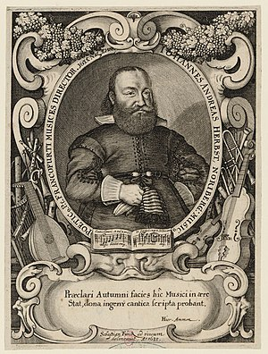 Johann Andreas Herbst - Johann Andreas Herbst. Portrait by Sebastian Furck (1635).