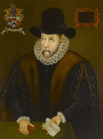 John Hooker (English constitutionalist) - Portrait of John Hooker (c.1527–1601) of Exeter. British (English) School, 16th/17th century. Royal Albert Memorial Museum, Exeter