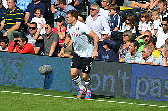 John Arne Riise - Riise playing for Fulham in 2012