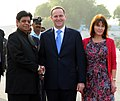 John Key and his wife Mrs. Bronagh Key being received by the Minister of State for External Affairs, Shri E. Ahamed, on their arrival, at Palam Air Force Station, in New Delhi on June 26, 2011.jpg