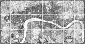 John Rocque's Map of London, 1746 - John Rocque's 24-sheet map