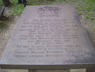King's Chapel Burying Ground - Image: John Winthrop Tomb Boston