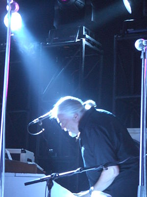 Jon Lord - Lord, on stage for The Sunflower Jam, in 2007