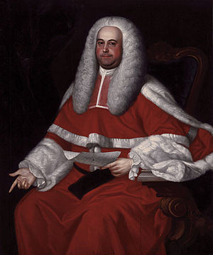 Halifax Treaties -  Governor Jonathan Belcher by John Singleton Copley. Belcher with the Nova Scotia Council created the Halifax Treaties of 1760-61