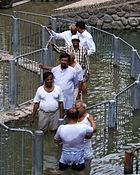 Jordan river baptism cue