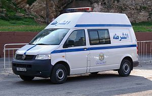 Law enforcement in Jordan - A police vehicle of the Capital Governorate, equivalent to State Police in the US