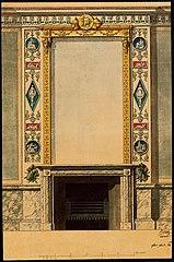 Ébauche de cheminée avec miroir dans le style Empire