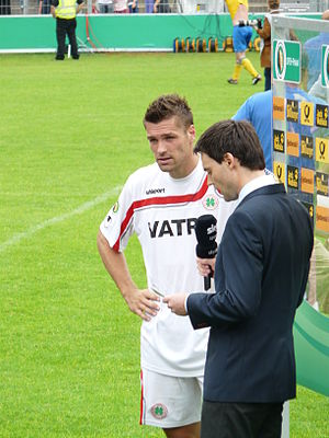 Ronny König - König giving an interview following a game with Oberhausen in 2011.