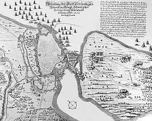 Assault on Copenhagen (1659) - Contemporary image showing details of the battle