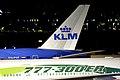 KLM (PH-BVF) and EVA Air (B-16701) B777s at Amsterdam Airport Schipol.jpg