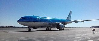 Hosea Kutako International Airport - KLM Airbus A330-200 Hosea Kutako International Airport, August 2017
