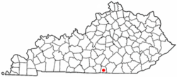 Location of Albany, Kentucky