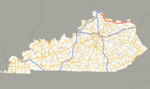 Kentucky Route 10 - Image: KY 10 map