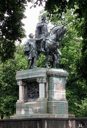 Ferdinand Freiherr von Miller - bronze of Louis IV, Holy Roman Emperor, Munich