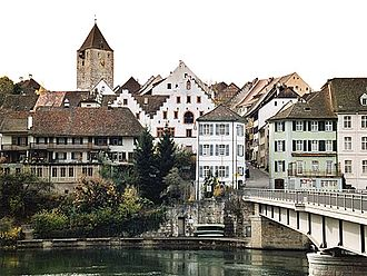 Kaiserstuhl, Aargau - Kaiserstuhl and Rhine River