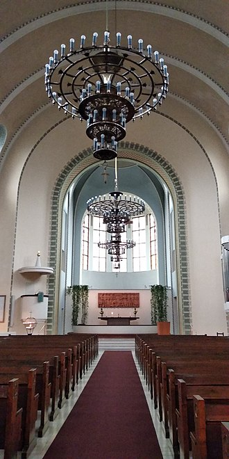 Kallio Church - The interior of Kallio Church in Helsinki.