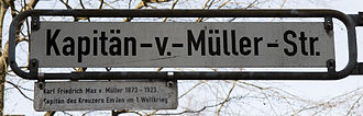 Karl von Müller - Kapitan v. Müller Street in Hanover