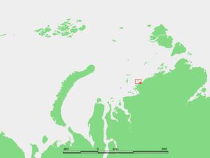 Scott Hansen Islands - Location of the Scott Hansen Islands in the Kara Sea.