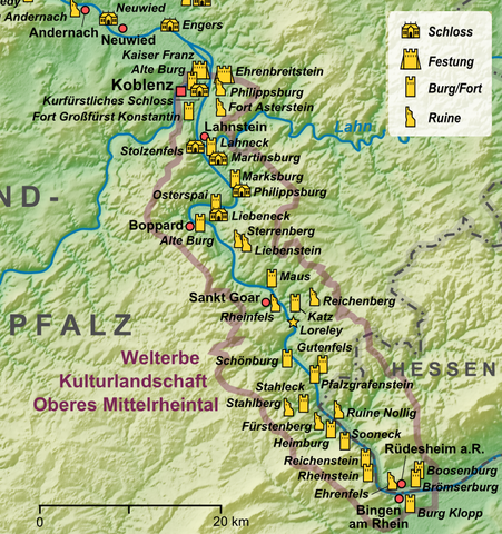 Mittelrheintal Karte.File Karte Mittelrhein He Png Wikimedia Commons