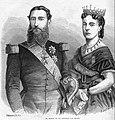 Kath. Illustratie 1869-1870 nr 46 p.364 De koning en de koningin van België.jpg