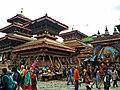 Kathmandu Durbar Square with Kaal Vhirav.jpg