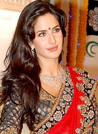 A woman dressed in traditional Indian clothing is looking away from the camera. She has a red bindi between her eyebrows, a silver necklace and is wearing an embroidered red sari.