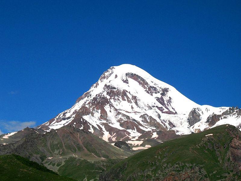 Kazbek, 5.047 m, en Georgia