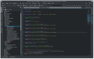 KDevelop - Image: Kdevelop breeze dark theme