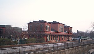 History of Kent, Ohio - The former depot for the Atlantic & Great Western Railroad, built in 1875.