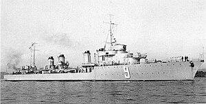 Vauquelin-class destroyer - Image: Kersaint 1934 1936