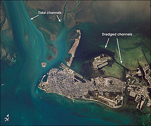 Key West - Key West from space, October 2002