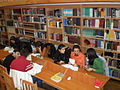 Khazar University Library Reading Hall.JPG