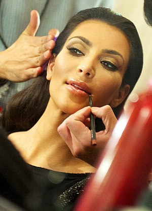 Kim Kardashian - Kardashian backstage at The Heart Truth's Red Dress Collection, February 2010