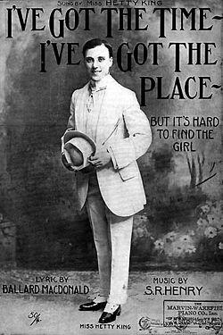 King, hetty   1910 (male impersonator)