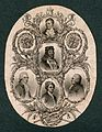 King James I and VI, with four famous Scotsmen; Robert Burns Wellcome V0006806.jpg