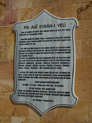 Ahi Evren - Information about Ahi Evran at his tomb