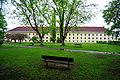 Klagenfurt Maira Theresia Park Waisenhauskaserne Suedansicht 30042009 99.jpg