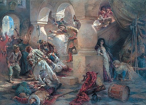 Konstantin Makovsky, The Murder of False Dmitry