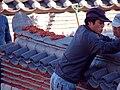 Korea-Naksansa 2191-07 wall reconstruction.JPG