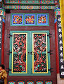 Korea-Seoul-Jogyesa Main Hall door 2192-06.JPG