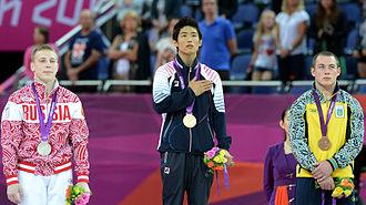 Denis Ablyazin - Ablyazin, silver medalist in men's vault at the 2012 Summer Olympics