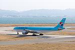 Korean Air ,KE3722 ,Airbus A330-322 ,HL7525 ,Departed to Seoul ,Kansai Airport (16602978097).jpg