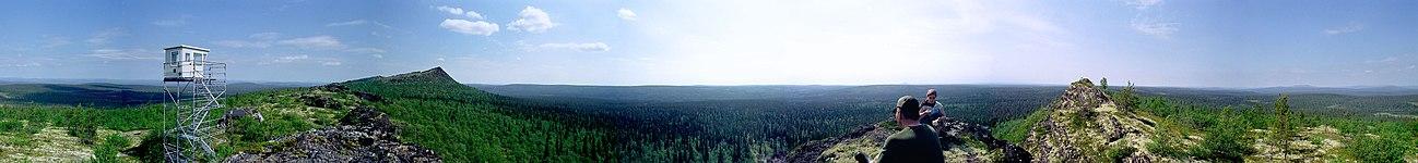 Udsigt fra Korvatunturi (360°)