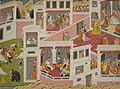 Krishna Rushes to Satyabhama's Palace, workshop of Purkhu, Honolulu Museum of Art.JPG